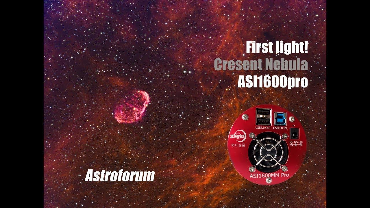 ZWO ASI1600 PRO - First Light! Narrowband Crescent Nebula (NGC 6888)