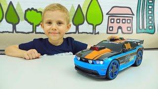 Машинка Форд Мустанг для детских игр в гонки. Машинки. Автогонки. Игрушки. Toy Race Car Ford Mustang