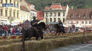 Turnir al cavalerilor in Piata Sfatului din Brasov