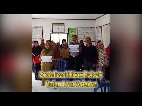 Polsek Pulau Laut Selatan Polres Kotabaru bersama Warga Mendeklarasikan ANTI HOAX