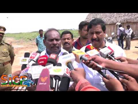 Welfare Minister M Kandasamy discussing the satellite port development plan