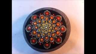 Pierre du Coeur   Mandala Stone Painting   Sacred Chakra