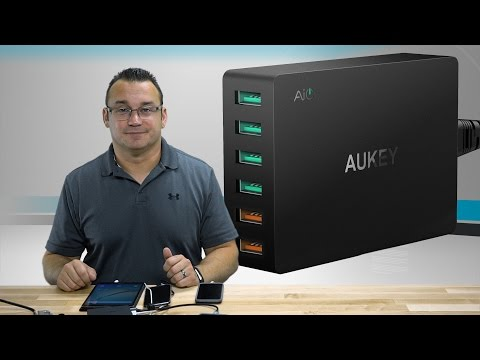AUKEY USB 6 Port Charger with Dual Quick Charge 3.0 Review