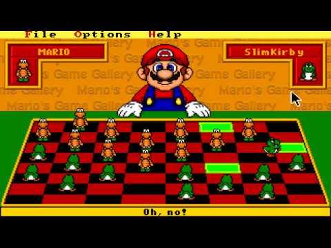 Slim Plays Mario's Game Gallery - Checkers