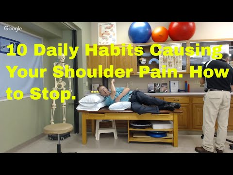 10 Daily Habits Causing Your Shoulder Pain. How to Stop.