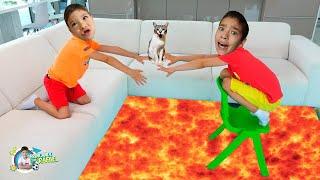 O CHÃO É LAVA COM RAFAEL! / The Floor is Lava with Rafael and João Pedro