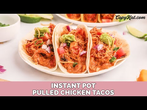 Instant Pot Pulled Chicken Tacos Youtube