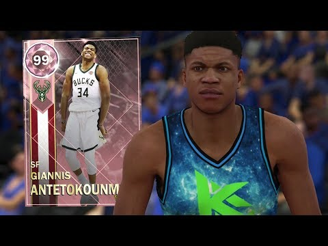 PINK DIAMOND GIANNIS ANTETOKOUNMPO GAMEPLAY! HE'S UNSTOPPABLE!! (NBA 2K18 MYTEAM)