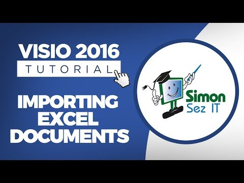 How to Import Data Into Visio 2016 | Import Excel Data Into Visio