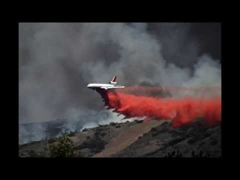 California Wildfires Aerial Firefighting 2014