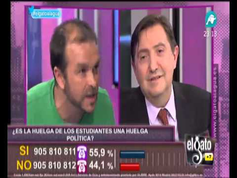 Federico Jiménez Losantos llama analfabeto a un huelguista de estudiantes