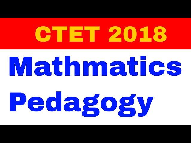 Teaching Learning Strategies| Mathematics Pedagogy|CTET ans State TET 2018