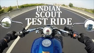 Indian Scout Test Ride completo
