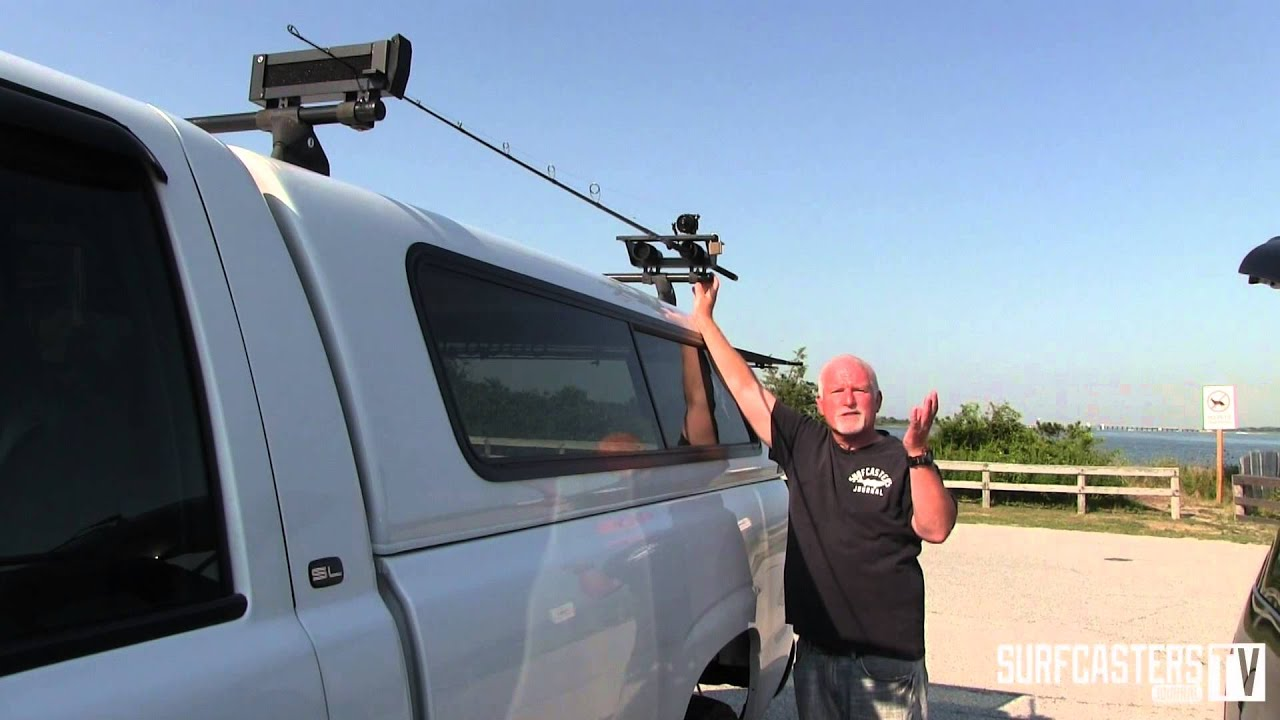 Rac a rod roof rack review by lou caruso youtube for Rooftop fishing rod carrier