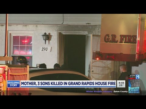 Mom, 3 Sons Killed In Grand Rapids House Fire