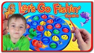 Let's Go Fishing Game! La pescuit cu Bogdan`s Show si Anabella Show
