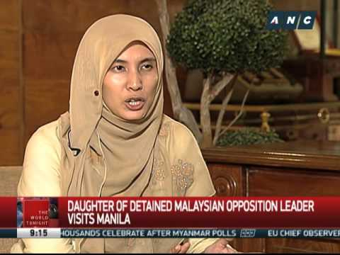 Why Anwar's daughter visited Manila