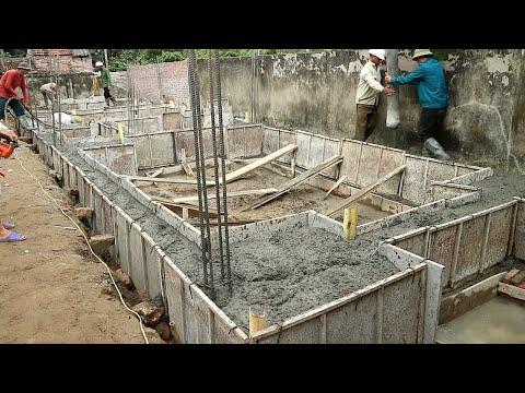 Technology Construction Concrete Foundation Beams Traditional - Construction Mixer