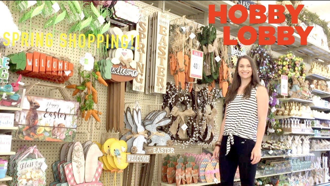 Hobby Lobby Spring Shop With Me! All the New Finds at ... on Hobby Lobby Online Shopping id=30616