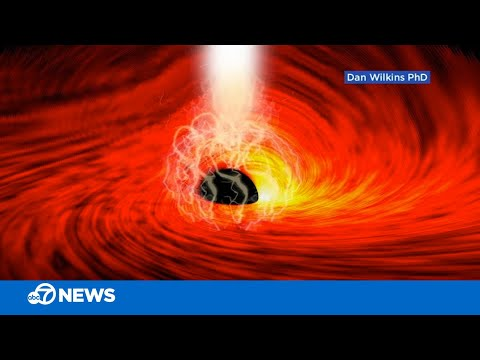 Stanford astronomers discover light from back of black hole for 1st time