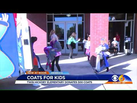 Coats for Kids at Twin Hickory Elementary School