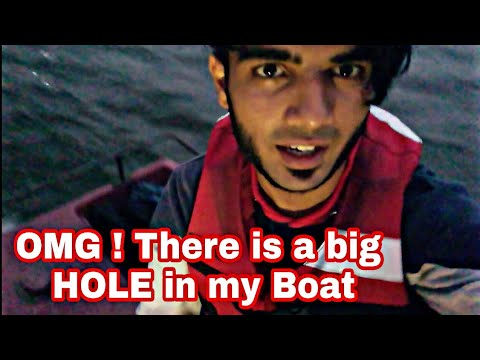 There is a big HOLE in my boat | What happened next | Boating in BTM Lake | #Vlog 2