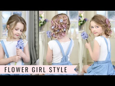 Cute Flower Girl Hairstyle by SweetHearts Hair Design thumbnail