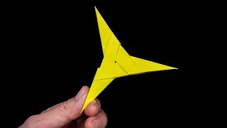 How to make #Origami #Ninja #Star 03 point - Easy origami for kids