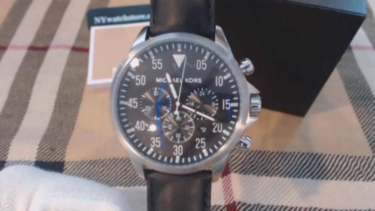 c5056b8dfce1 Men s Michael Kors Gage Black Chronograph Watch MK8442 - YouTube