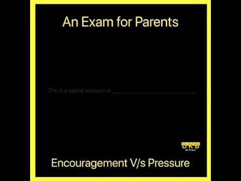 Parent's pressure for exam results