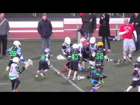 CBAA Lightning Lacrosse 1st and 2nd grade halftime game at CBEvsCBS