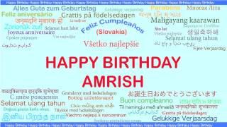 Amrish   Languages Idiomas - Happy Birthday