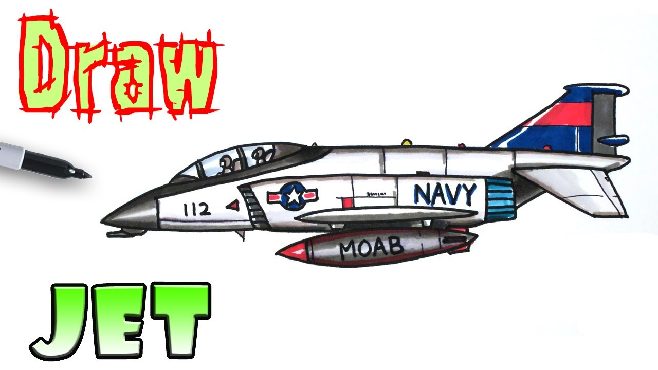 How To Draw A Fighter Jet Youtube