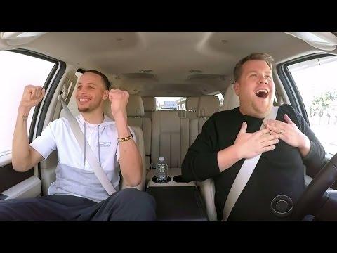 Steph Curry Sings Frozen & Moana Songs For Carpool Karaoke With James Corden