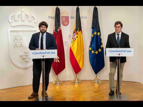 López Miras propone a Sánchez un marco bilateral para abordar la desescalada