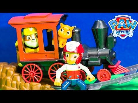 PAW PATROL Nickelodeon Paw Patrol Rubble Train Ride at Magic Kingdom Toys Video Parody