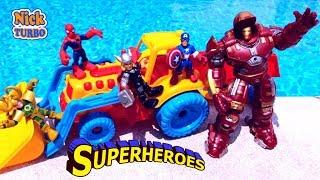 Супергерои и крепость из песка | КОВАРСТВО ЛОКИ |  Ник Турбо
