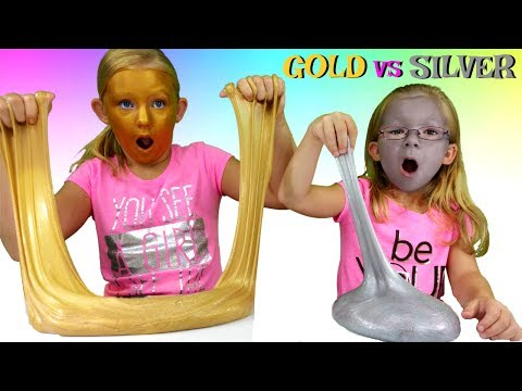 GOLD Slime vs SILVER Slime Challenge * DIY Metallic Slime - Magic Box Toys Collector