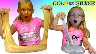 Baixar GOLD Slime vs SILVER Slime Challenge * DIY Metallic Slime - Magic Box Toys Collector