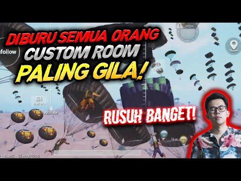 GILA !!! DIBURU 1 PESAWAT DI CUSTOM ROOM !!!  ASLI RUSUH BANGET  - PUBG MOBILE INDONESIA