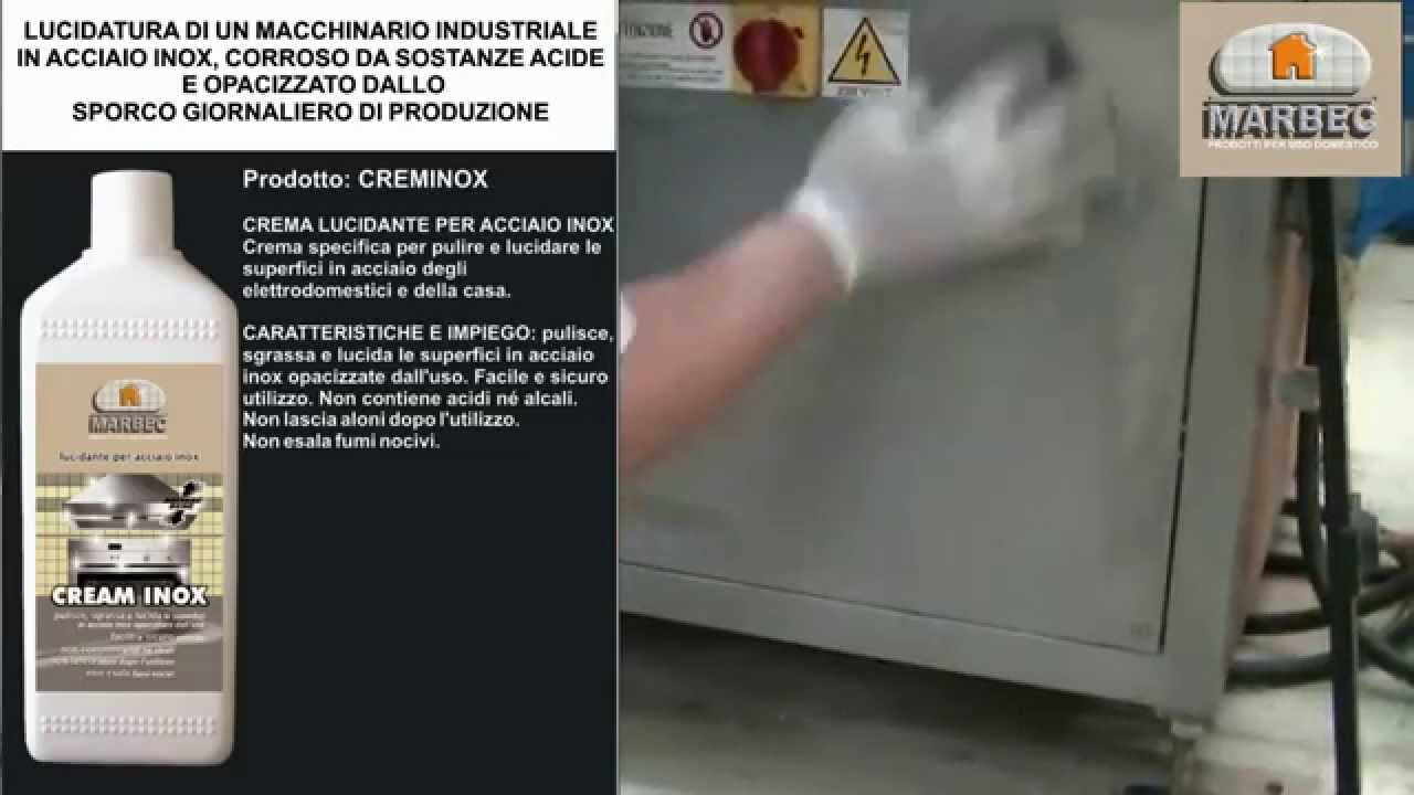 Come lucidare le superfici in acciaio inox opache o rovinate - YouTube