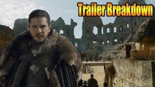 Game Of Thrones Season 7 Finale Trailer Breakdown & Easter Eggs