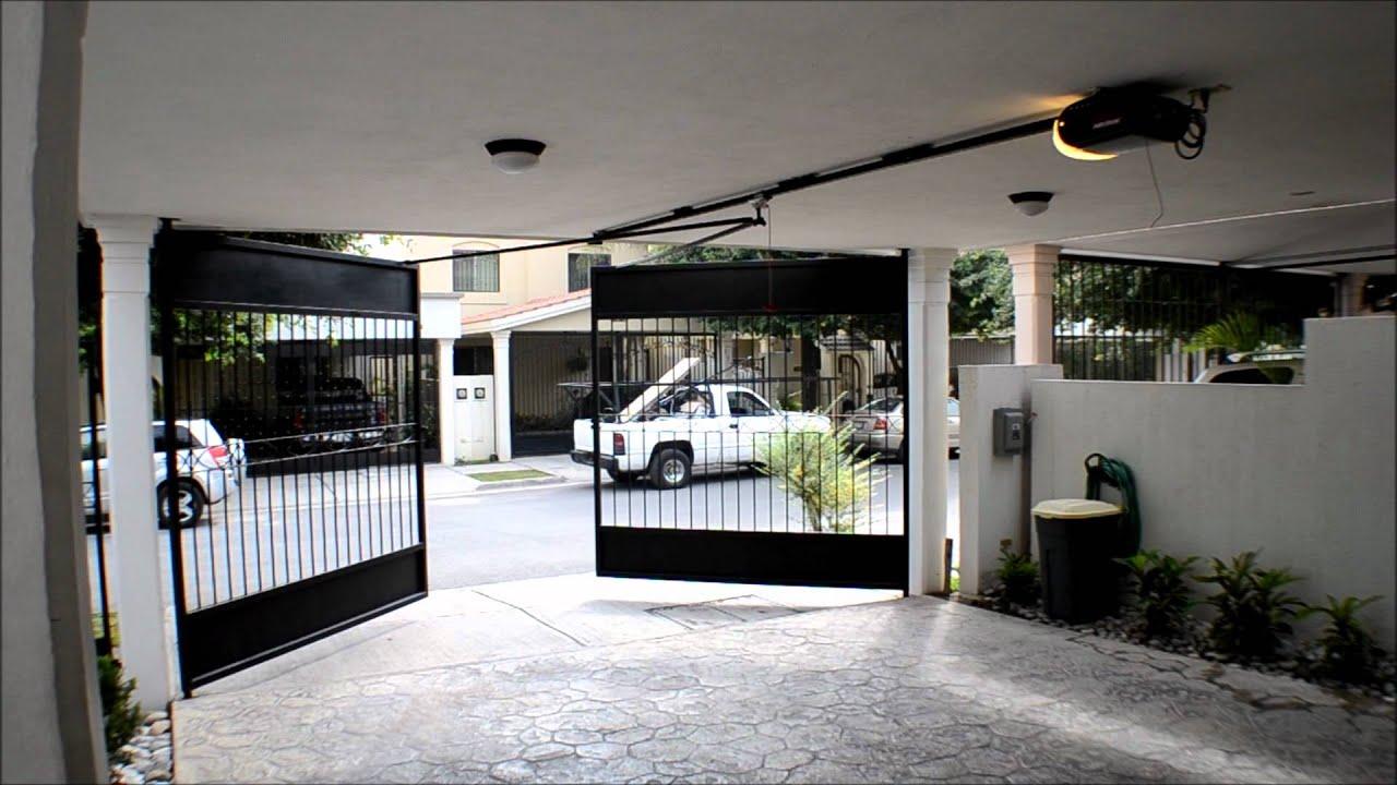 Puertas automaticas porton abatible con operador merik - Puertas para cocheras ...