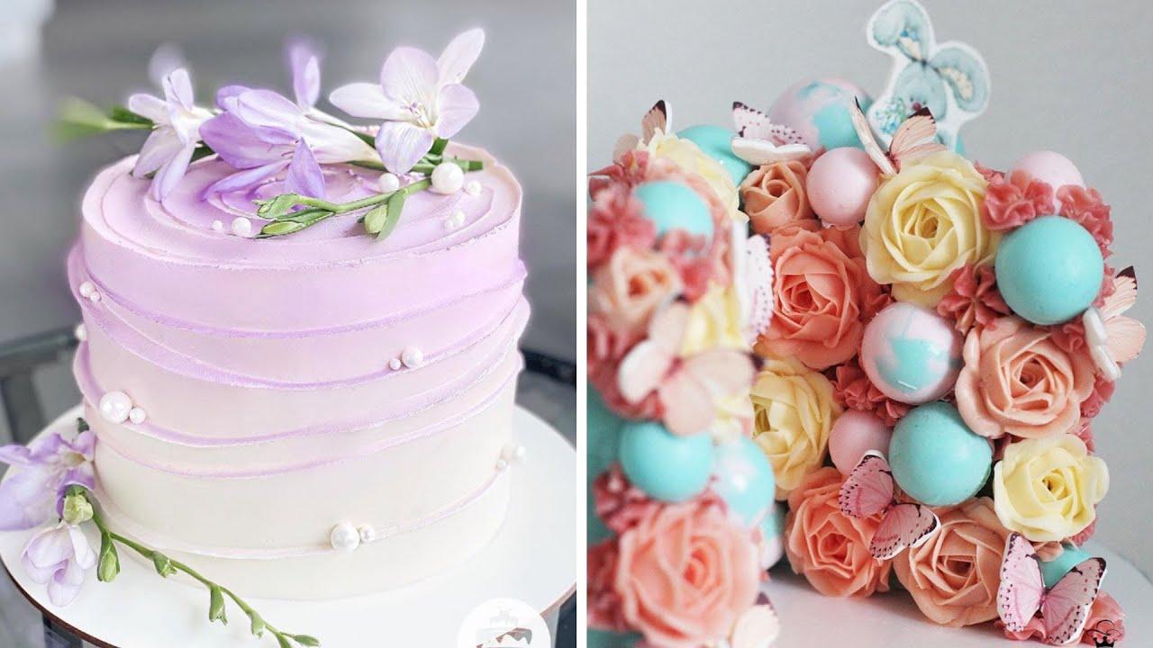 Oddly Satisfying Rainbow Cake Decorating Compilation | So Yummy Cake Tutorials