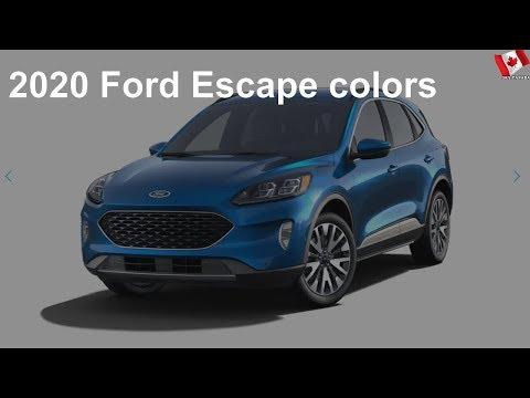 2020 Ford Escape colors