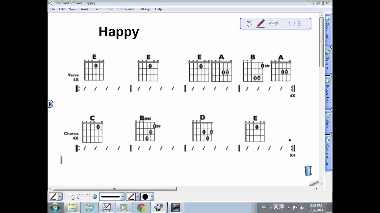 Flow Of Song And Chord Progression For Happy Youtube