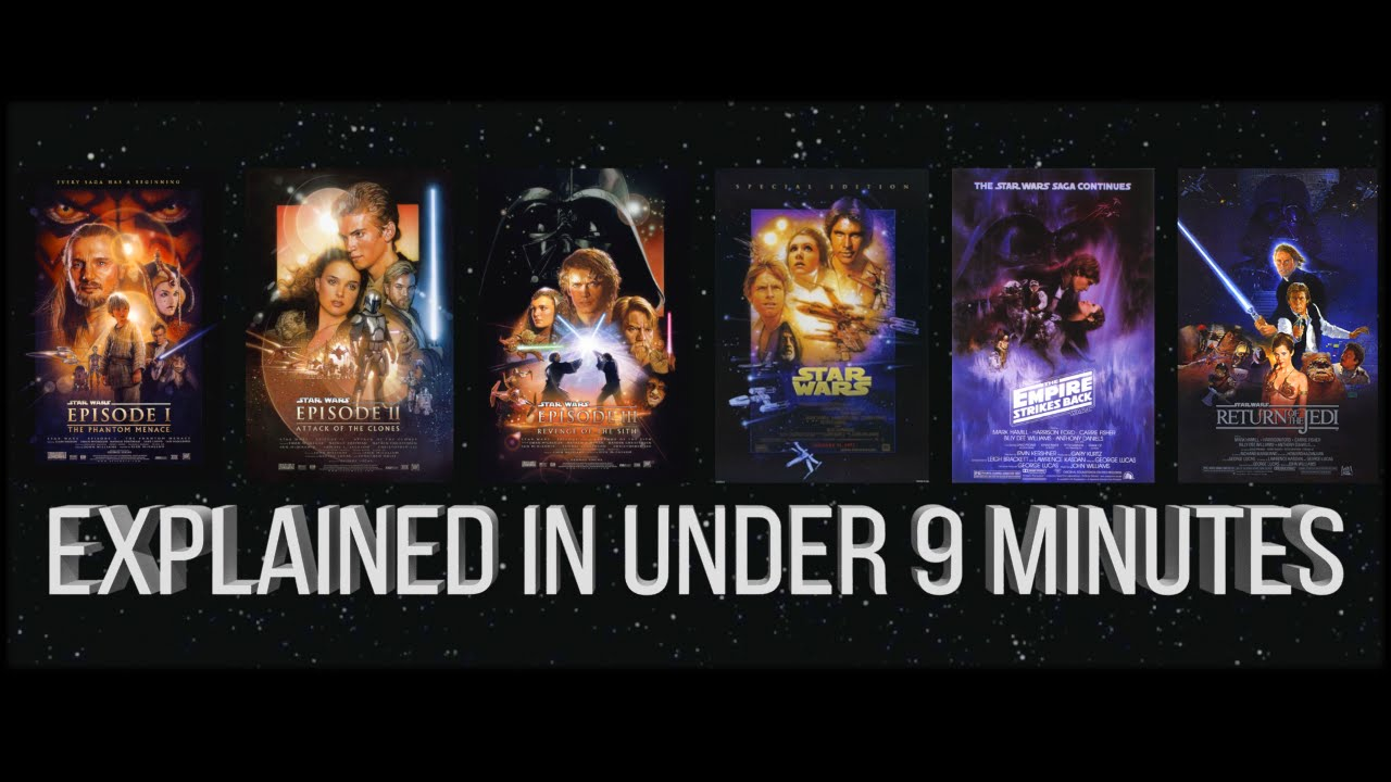 Star Wars Summary Episodes 1 6 Explained In 9 Minutes Youtube