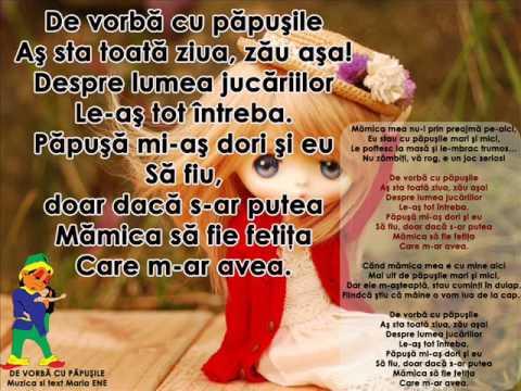 DE VORBĂ CU PĂPUŞILE – Cantece pentru copii in limba romana