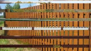 видео Строить забор своими руками или заказывать услуги