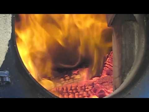 FARM2000 Wood Burning Boiler showing gasification